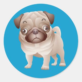 Love Pug Puppy Dog Sticker Seal