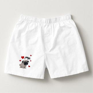 Love pugs boxers