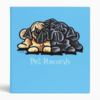 Love Pugs Vinyl Binder