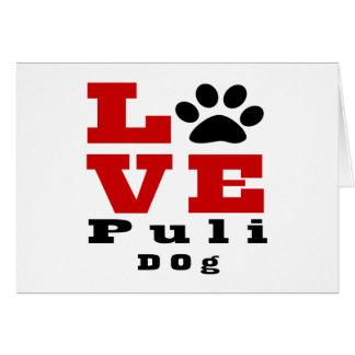 Love Puli Dog Designes Card