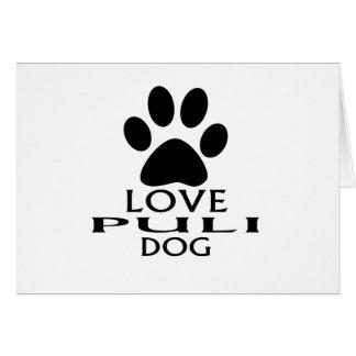 LOVE PULI DOG DESIGNS CARD