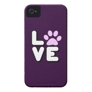 LOVE - PURPLE iPhone 4 COVER