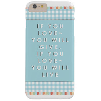Love Quote Barely There iPhone 6 Plus Case