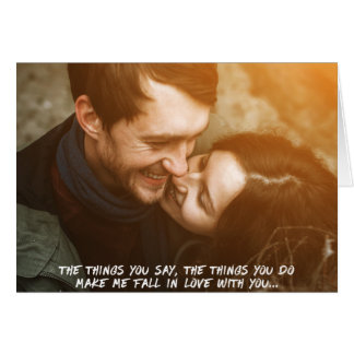 Love Quote Cute Couple Photo Card