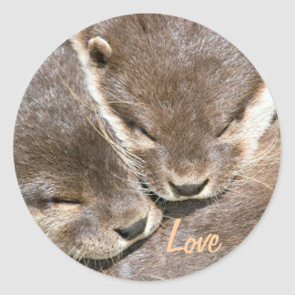 Love Quote - Otters Classic Round Sticker