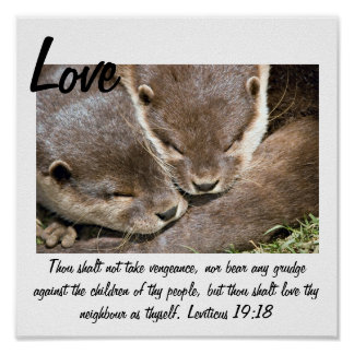 Love Quote Poster - Otters White