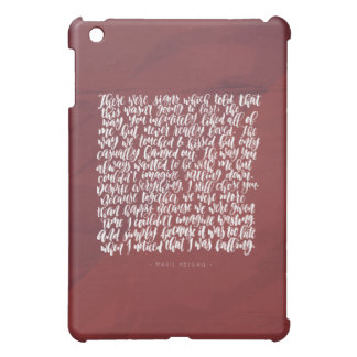 Love Quotes: There Were Signs Cover For The iPad Mini