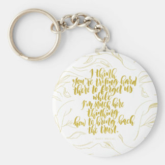 Love Quotes: Trying Hard There To Forget Us Basic Round Button Keychain