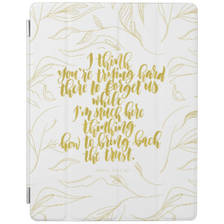 Love Quotes: Trying Hard There To Forget Us iPad Cover