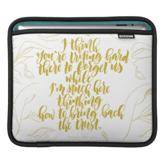 Love Quotes: Trying Hard There To Forget Us iPad Sleeve