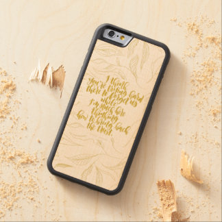 Love Quotes: Trying Hard There To Forget Us Maple iPhone 6 Bumper