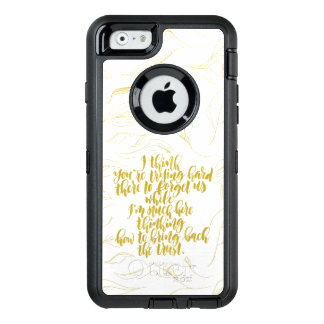 Love Quotes: Trying Hard There To Forget Us OtterBox Defender iPhone Case