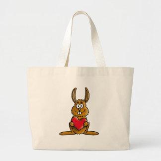 love rabbit jumbo tote bag