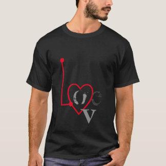 Love Radar Black Tee Shirt