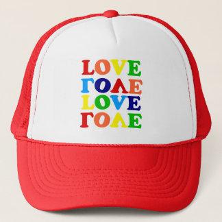 Love Rainbow Alphabet Soup Valentine Trucker Hat