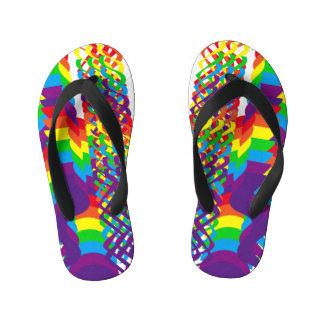 Love Rainbow Colors Design Kid's Flip Flops