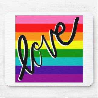 love rainbow mouse pad