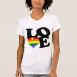 Love Rainbow Pride Tee Shirts