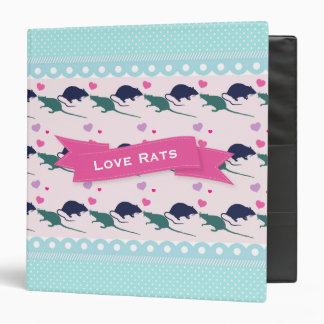 Love Rats Polka Dot Binder