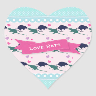 Love Rats Polka Dot Heart Sticker