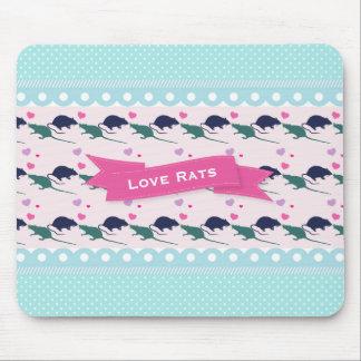 Love Rats Polka Dot Mouse Pad