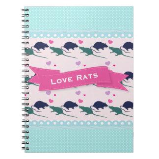 Love Rats Polka Dot Notebooks