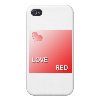 LOVE RED CASE FOR THE iPhone 4