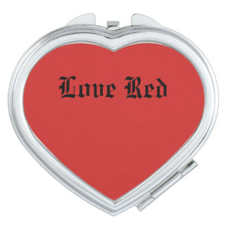 Love Red Compact Mirror