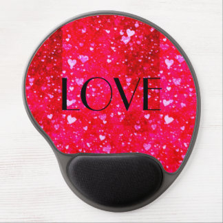 LOVE Red hearts collage pattern by healing love Gel Mouse Pad