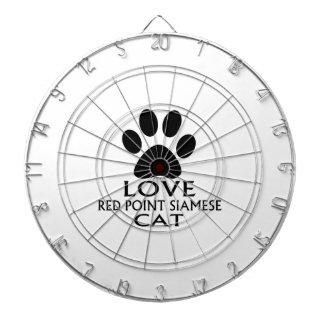 LOVE RED POINT SIAMESE CAT DESIGNS DARTBOARD