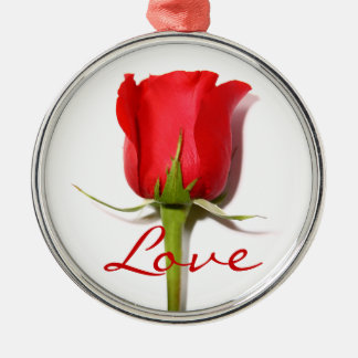 Love Red Rose Ornament