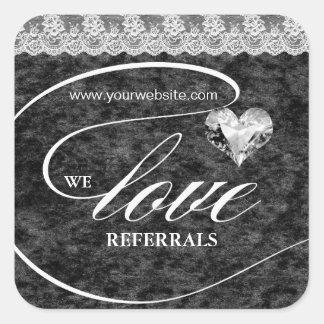 Love Referrals Sticker Jewelry Heart Crush Velvet