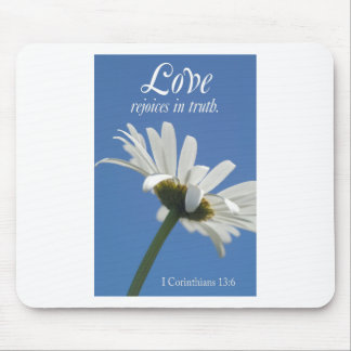 love rejoices in truth mouse pad
