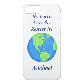 Love Respect Earth Globe Name Personalized iPhone 7 Case