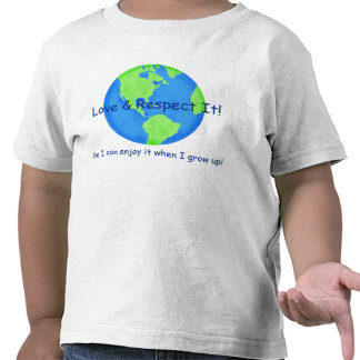 Love Respect Earth Save it for me Kids T-shirt