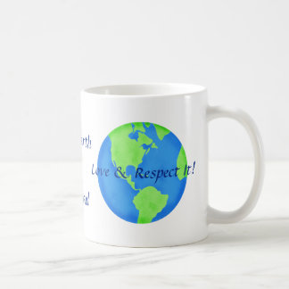 Love Respect the Earth Art Name Personalized Classic White Coffee Mug