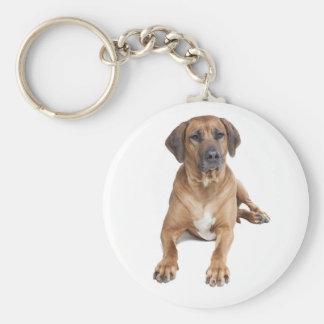 Love Rhodesian Ridgeback Puppy Dog Keychain