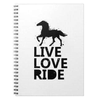 Love Ride Horse Lovers Gifts Riding Spiral Notebook