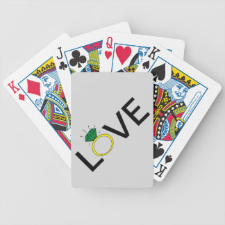 Love Ring Bicycle Playing Cards