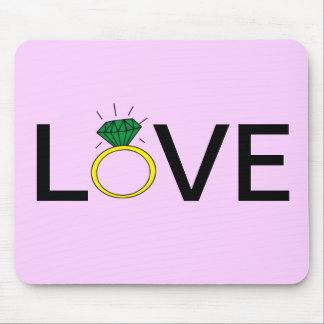 Love Ring Mouse Pad