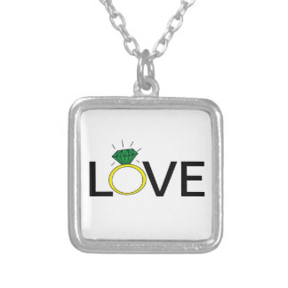 Love Ring Silver Plated Necklace