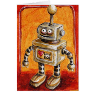 Love Robot Greeting Cards