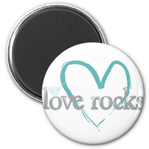 Love Rocks Refrigerator Magnet