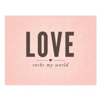 Love Rocks My World Vintage Postcard