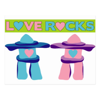 Love Rocks Postcard