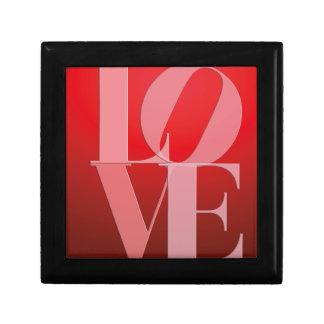 Love Romance Red Pink Keepsake Box