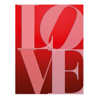 Love Romance Red Pink Postcard