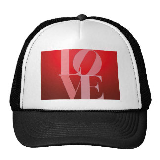 Love Romance Red Pink Trucker Hat