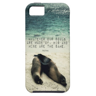 Love romantic couple quote beach Emily Bronte Case For The iPhone 5