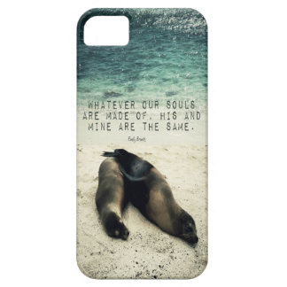 Love romantic couple quote beach Emily Bronte iPhone 5 Cases